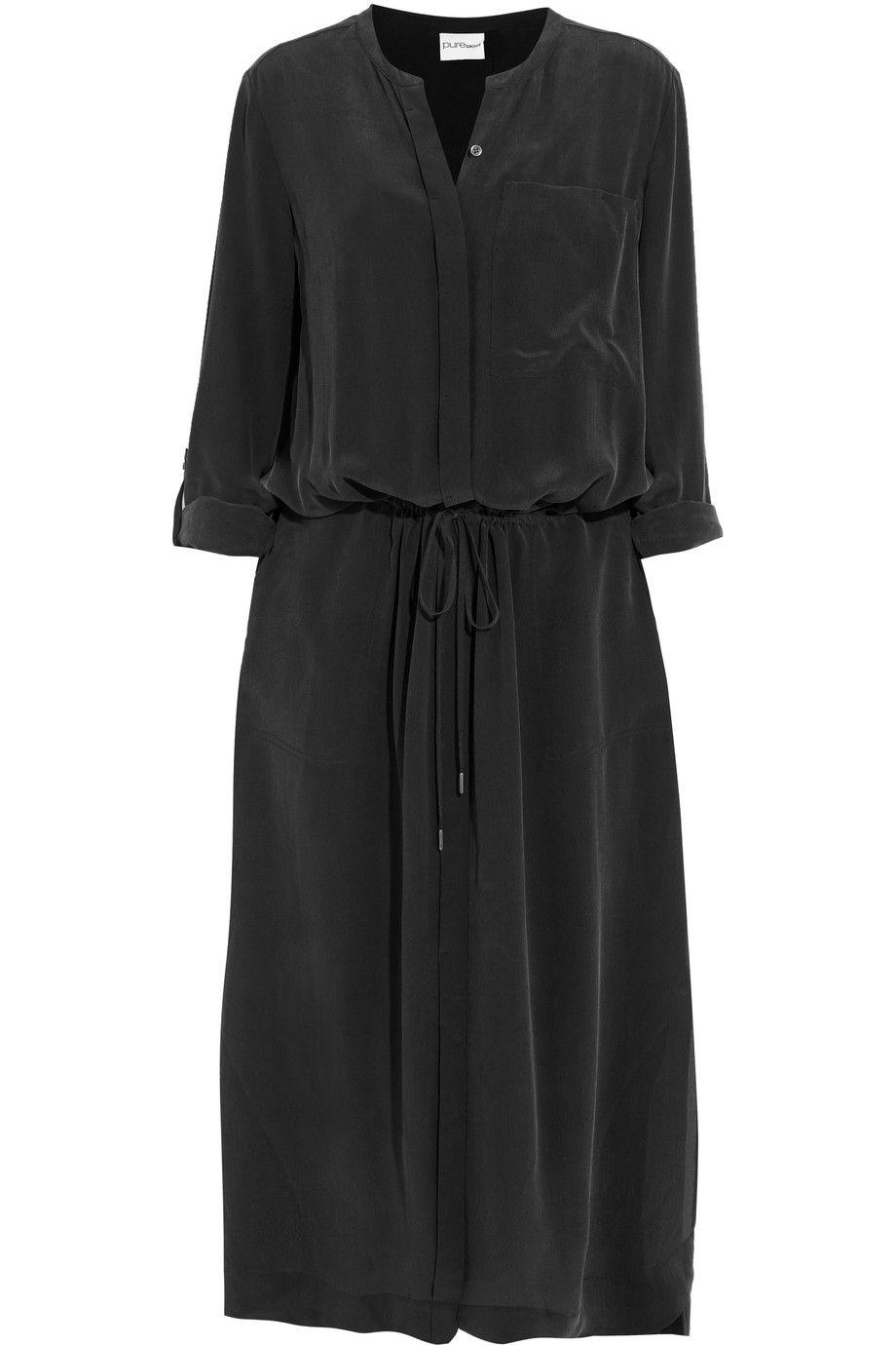 de040d84653 DKNY Washed-silk maxi dress. #dkny #cloth #dress   Dkny   Silk ...