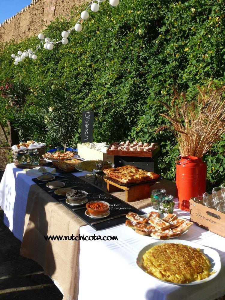 Ideas para preparar una mesa buffet decoraci n pinterest entrantes y for Casa jardin buffet