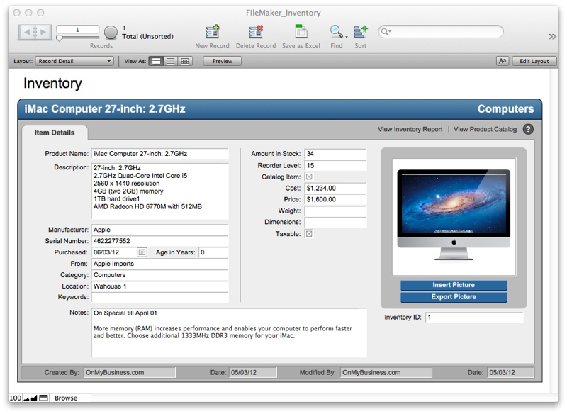 Free FileMaker Pro Starter Solutions Download | Apps run on