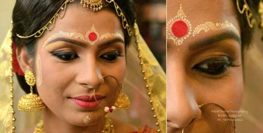 Beautiful Bengali Chandan Bridal Jewellery Design Bengali Bridal Makeup Bengali Bride