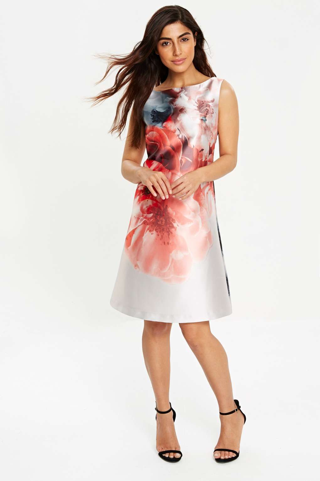 Sapphire Pink Floral Tunic Shift Dress | Floral tunic, Wallis and ...