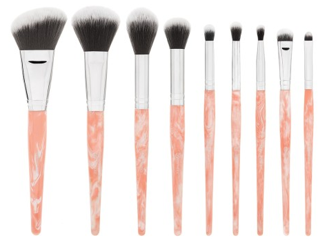 BH Cosmetics Rose Quartz 9 Piece Brush Set 14.00
