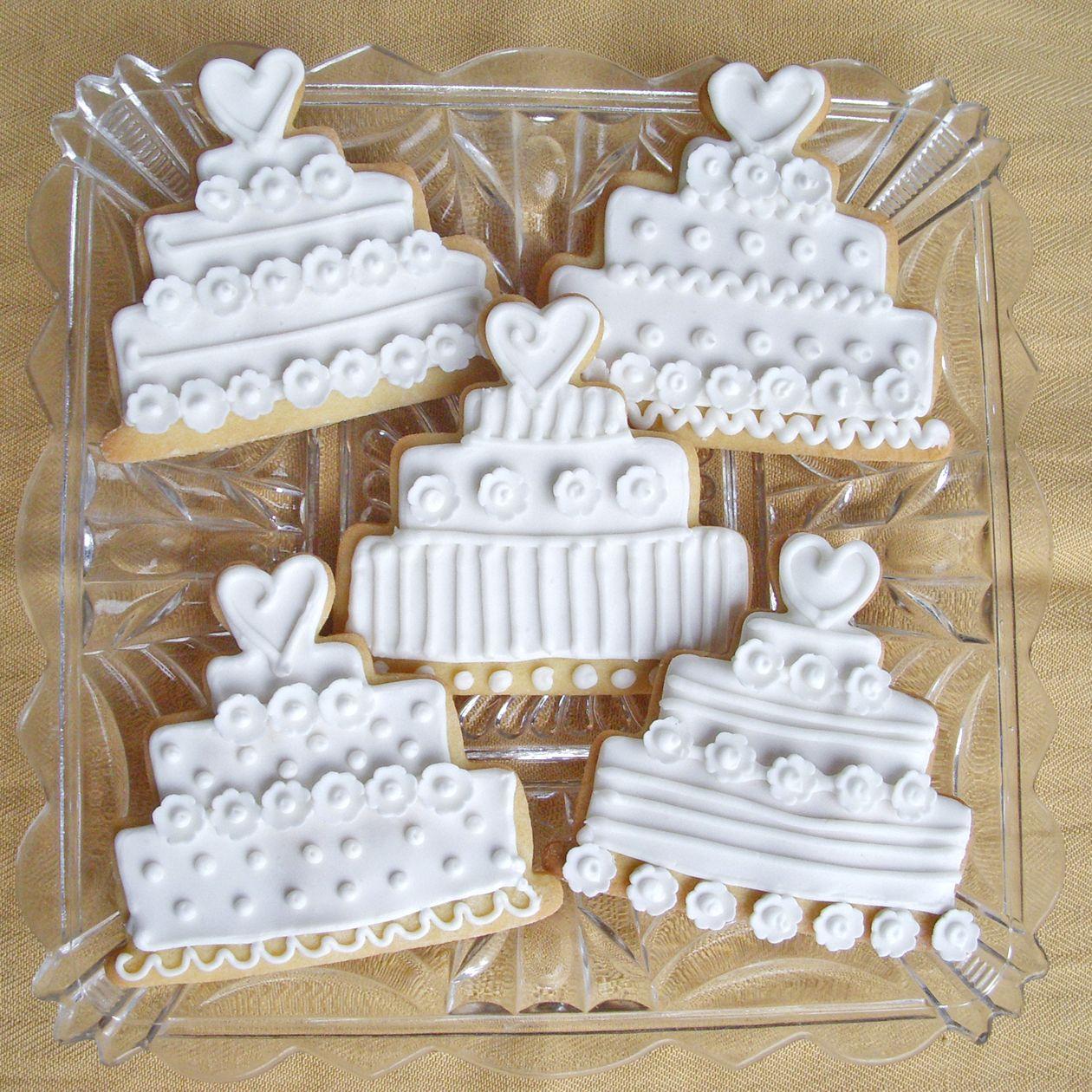 Wedding Cake Cookies Wedding cake sugar cookies with
