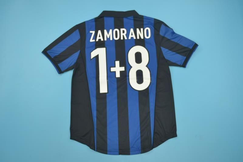 a27d4ef7248d7 Inter Milan Football club Internazionale Milano Nike 98-99 Home Player –  www.worldsoccerfootballshop