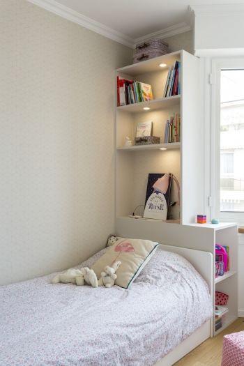 95 m² - Levallois-Perret aménagé et décoré par la décoratrice d'intérieur Vanessa Faivre #amenagementmaisonchambre