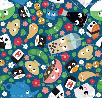 Great fabric! Table cloth, napkins, bento box cover...