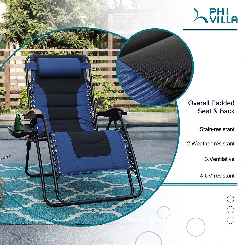 Phi villa xl zero gravity chair padded recliner oversize