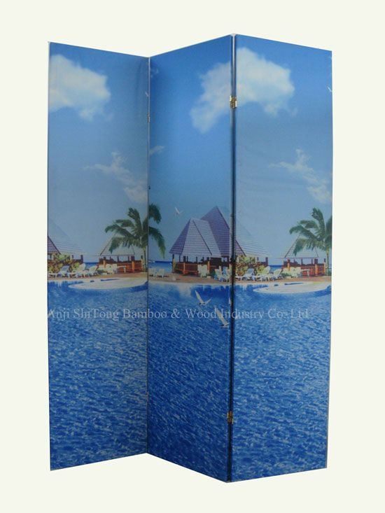 Beach Themed Office Theme Room Divider Qdsc 8065 China Bamboo Screen Shoji