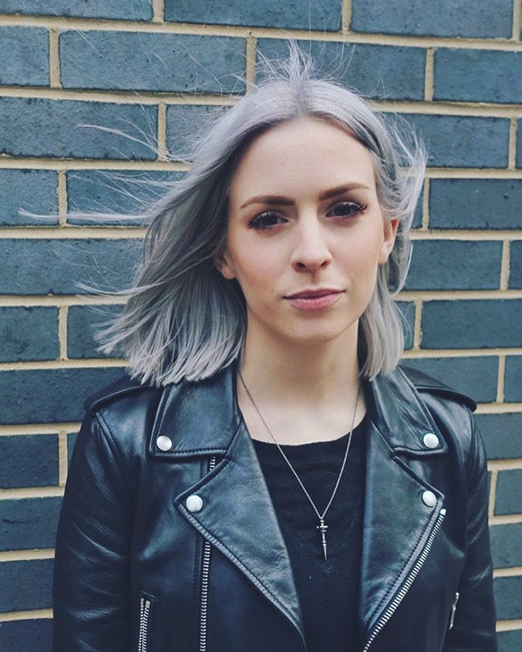 Pin By On Hair Gemma Styles Silver Blonde Hair Color Blue