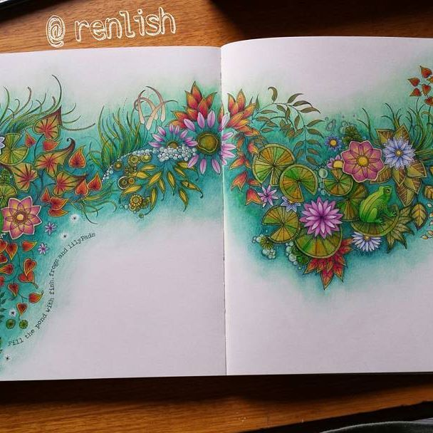 Finally Finished This Spread From The Secret Garden Completed With Faber Castell Polychromos Pencils