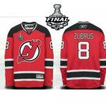 New Jersey Devils 2012 Stanley Cup Finals #8 Dainius Zubrus Home Authentic Red Jersey