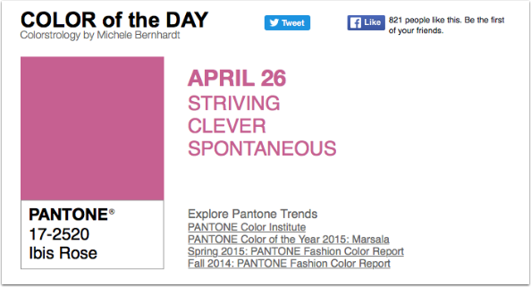 APPart – Mobile Art – Pantone Color of the Day – 'Ibis Rose' – TheAppWhisperer