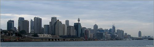 Panorama of Sydney Skyline - http://www.1pic4u.com/blog/2014/09/09/panorama-of-sydney-skyline/