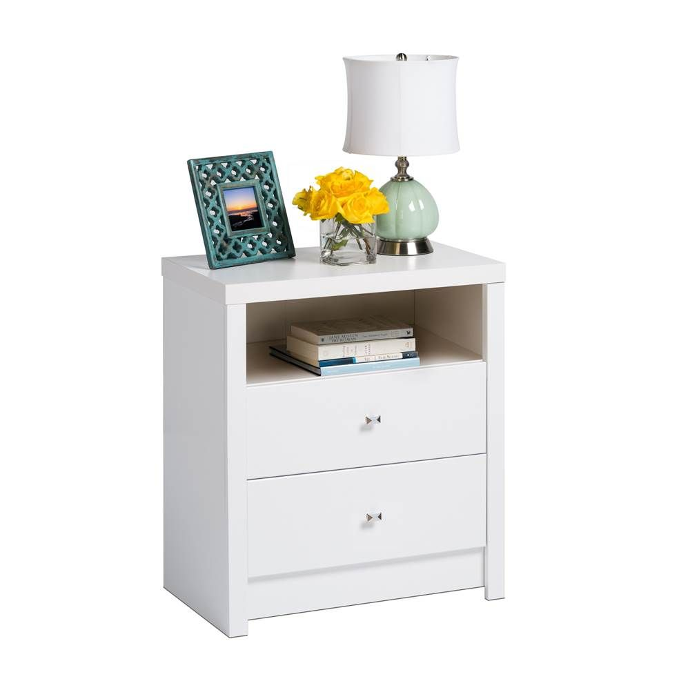 Contemporary Tall Nightstand In White White Nightstand Tall