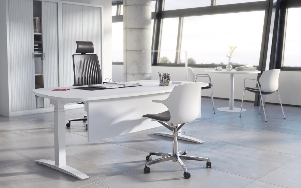 Bureau Assis Debout Electrique Angele Matelpro En 2020 Chaise De Bureau Design Assis Debout Bureau