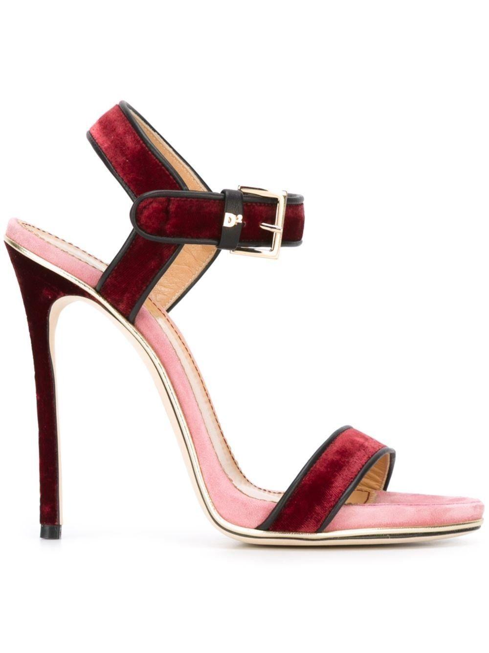 Dsquared2 Designer Shoes, Velvet Platform Sandal