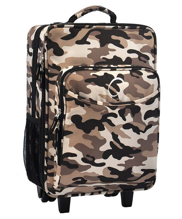 Look at this Camo All-in-One Rolling Suitcase on #zulily today!