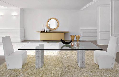 mesa de cristal comedor contemporáneo Bases de mesa de cristal ...
