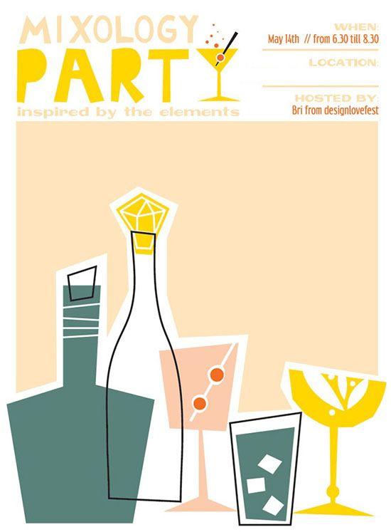 Cocktails Invitation Party Invite Design Cocktail Invitations