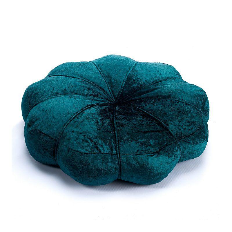 Tempo Home Cairo Crushed Velvet Floor Pillow, Blue, 24X24