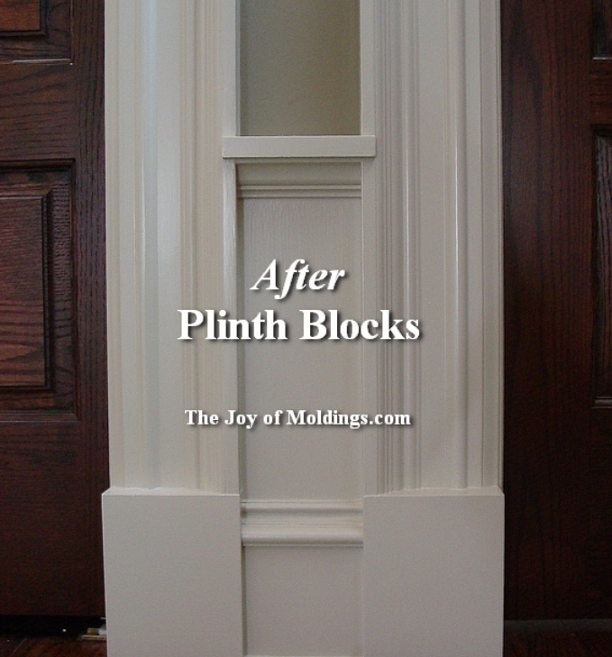 Exterior Plinth Blocks : Great resource to explain the use and options regarding