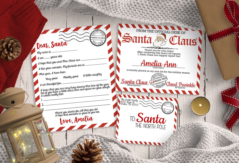 Letter to Santa Kit, Christmas Wish List, Santa