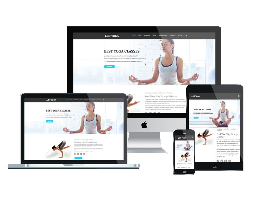 ET Yoga is Responsive Joomla! template that targets for yoga ...