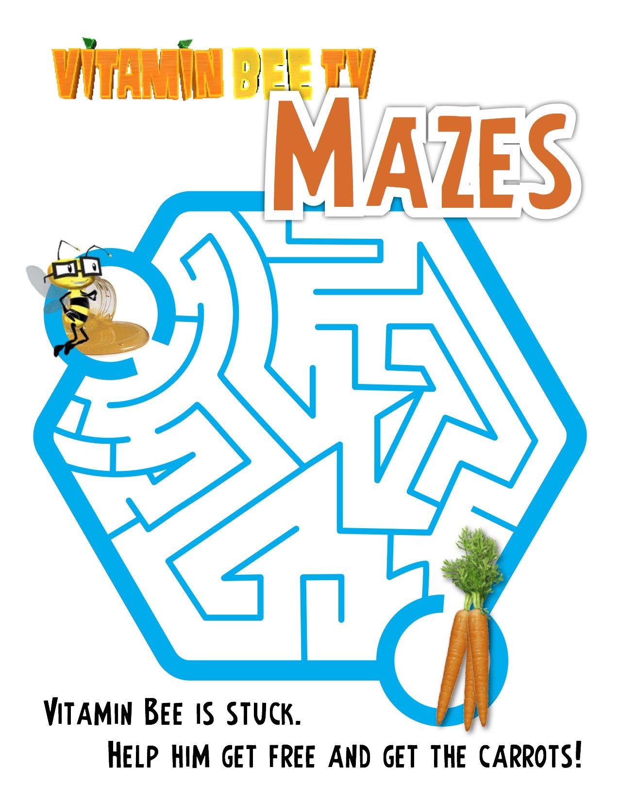 Help Vitamin Bee On His A Maze Ing Adventure To Get His