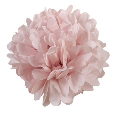 Petit pompon en papier rose pâle | chambre bébé | Pinterest