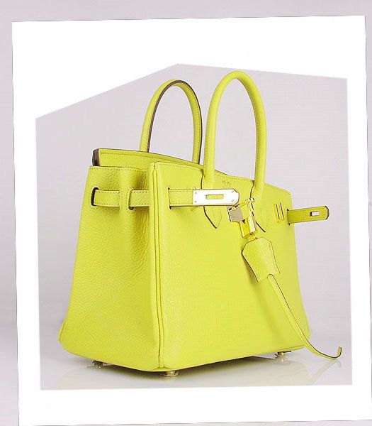 f97d0cdb3f57 Hermes Birkin 30cm Lemon Yellow Togo Leather Bag Golden Metal-3 ...
