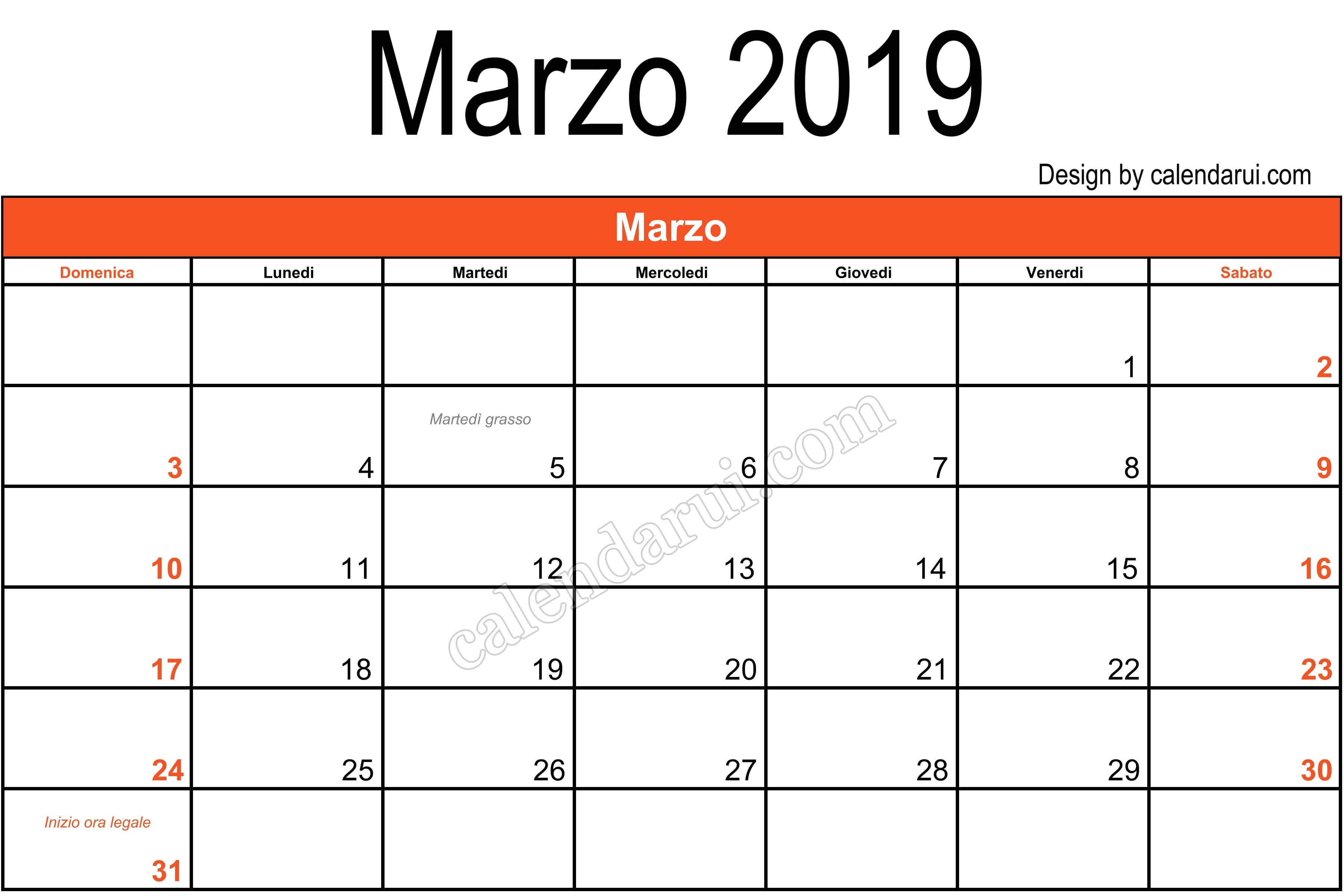 Italy Download Calendar 2019 March Template Monthly With Holidays Desk Calendar Template Monthly Calendar Template Calendar Template