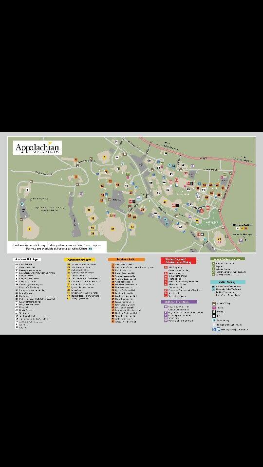 Appalachian State University Map : appalachian, state, university, Campus, Appalachian, State, University,, University