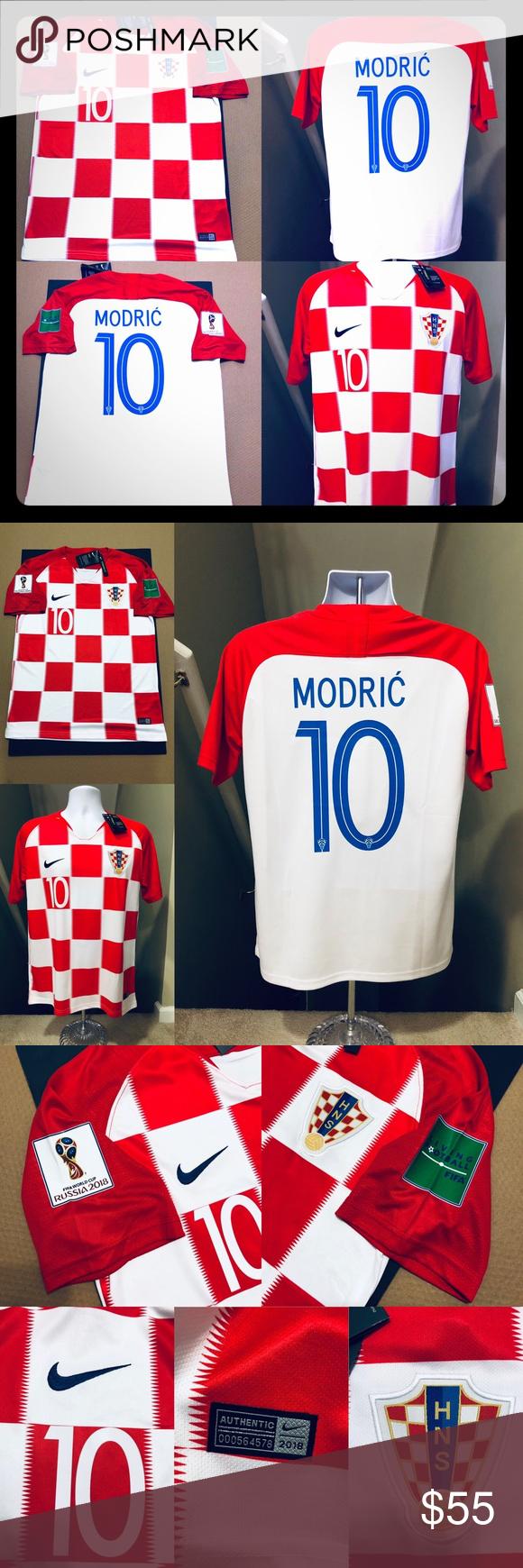 5318a4263 2018 Modric  10 ⚽ World Cup Croatia Soccer Jersey 2018 Croatia National  Football Team • Futbol Soccer Jersey Football 2018 Home Croatia Soccer  Jersey ...