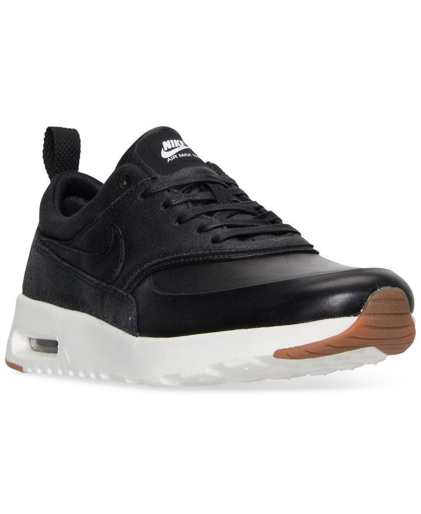 7cd9aa652989 Women Athletic Sneakers Nike Air Max Thea Premium Leather Black 616723012   fashion  clothing  shoes  accessories  womensshoes  athleticshoes (ebay  link)