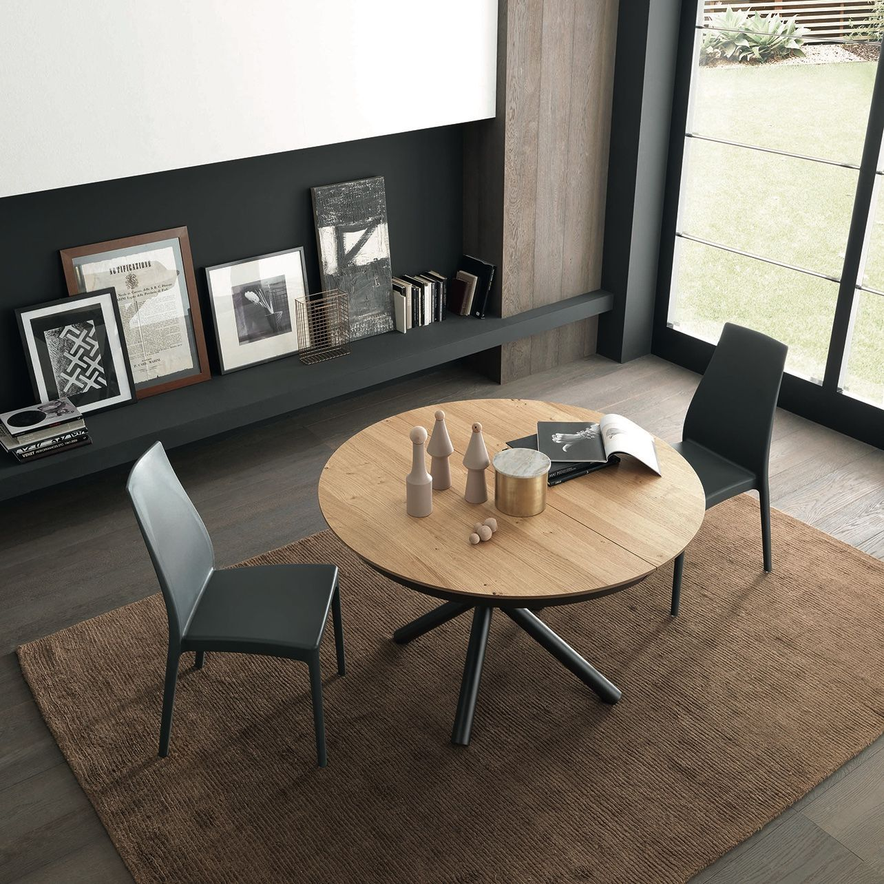Celsius Round Extending Table Expandable Dining Table Space