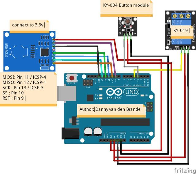 Door Access Control With Arduino And RFID RC522 ~ Arduino Tutorial ...