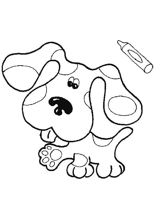 Cute Dog Blues Clues Coloring For Kids