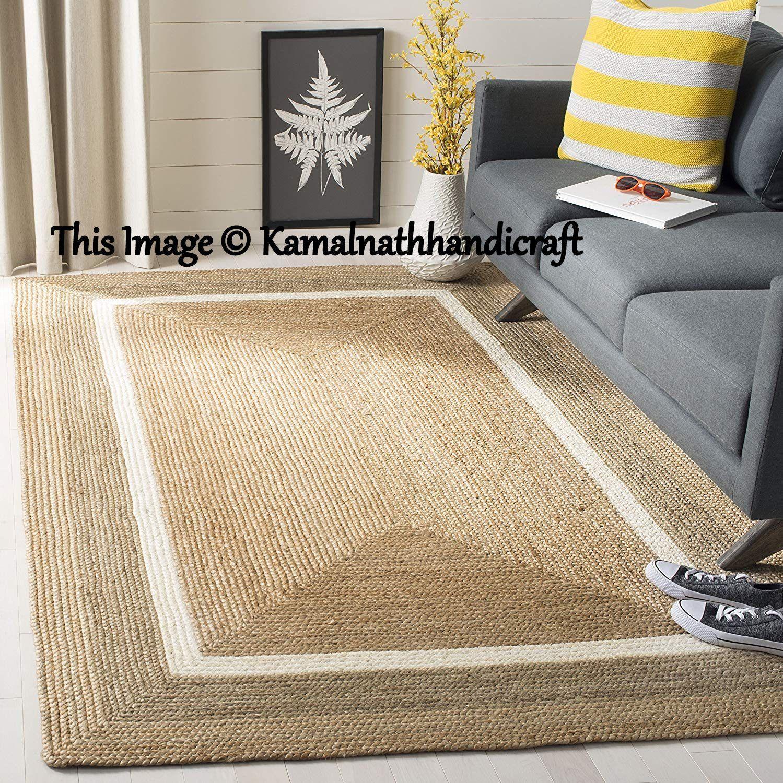 Natural Braided Floor Jute Rug Natural Jute Rug Natural Rug Etsy In 2020 Natural Jute Rug Jute Rug Floor Area Rugs