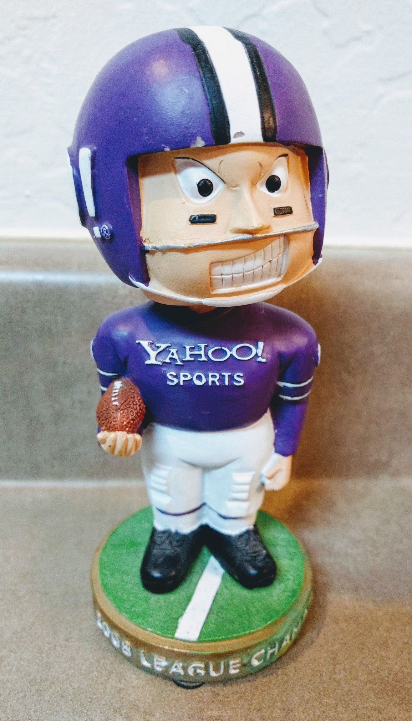 2008 Yahoo Fantasy Football Winner Award Bobblehead