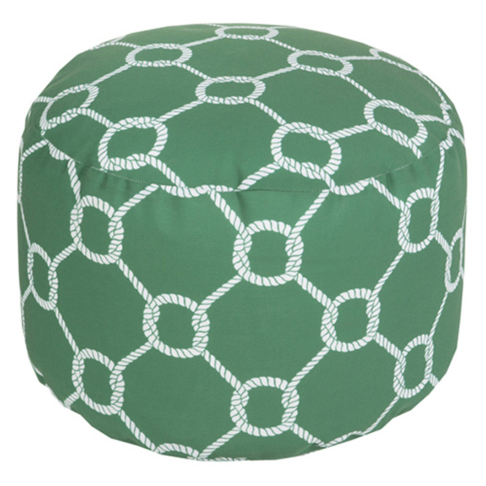 Surya 20 X 20 In Outdoor Rope Round Pouf Ash Gray Outdoor Pouf