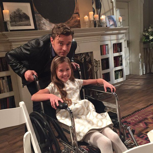Billy miller and brooklyn rae silzer behind the scenes of patrick and robins wedding