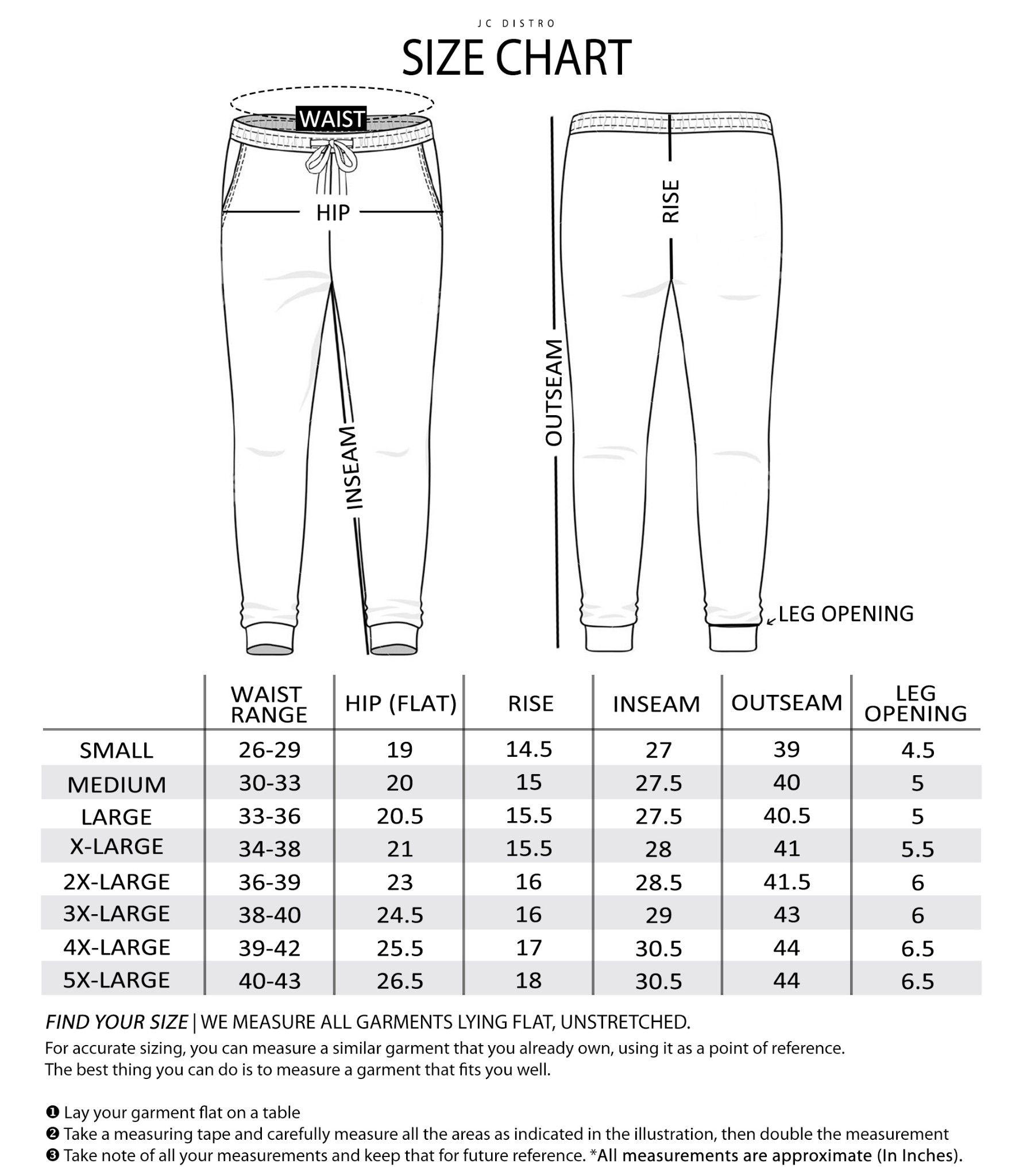 Men s sweats size chart in 2020 pants sewing pattern