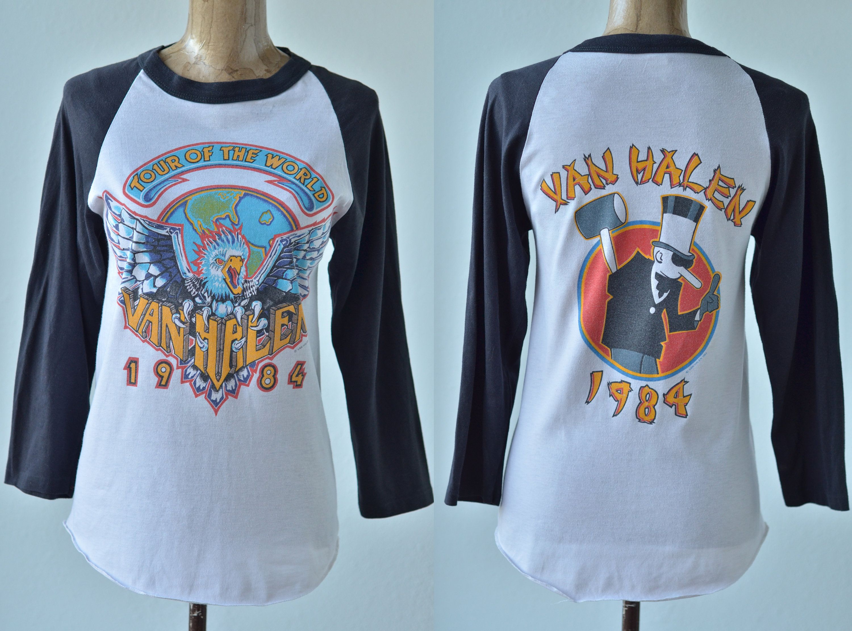 1984 Vintage Van Halen Tour Of The World 1984 Shirt Concert Vintage Rock Shirt Vintage Band Shirts Vintage Rock Tees