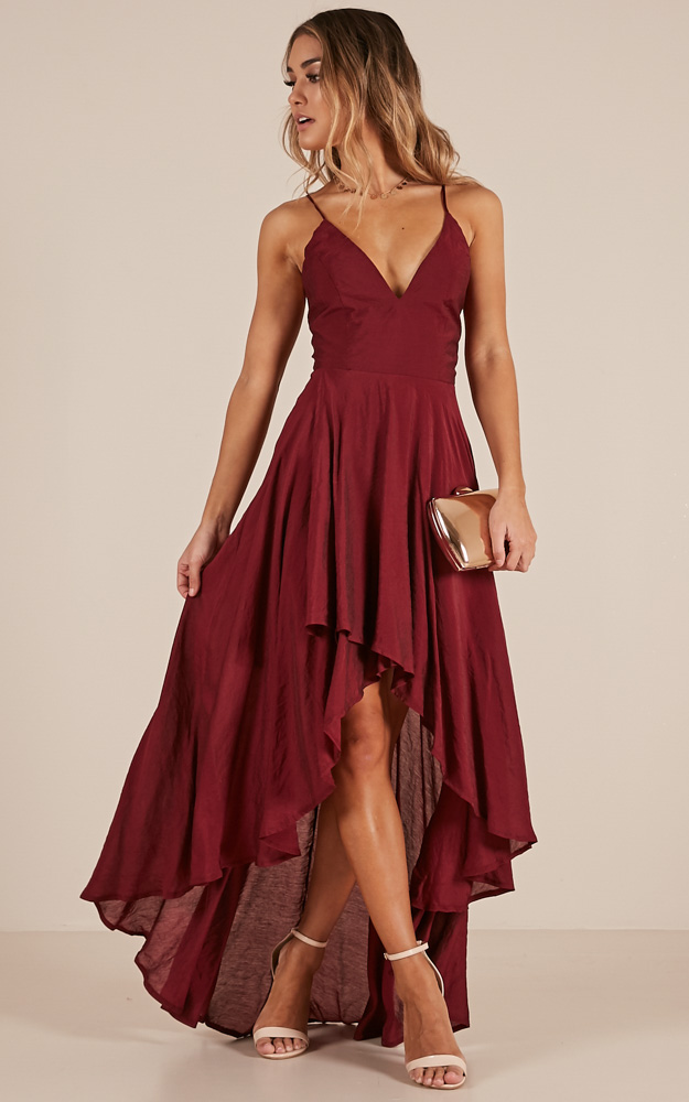 This dress is simple but gorgeous! It features a plunging neckline and  thigh split to make it a fun e36dbd49e