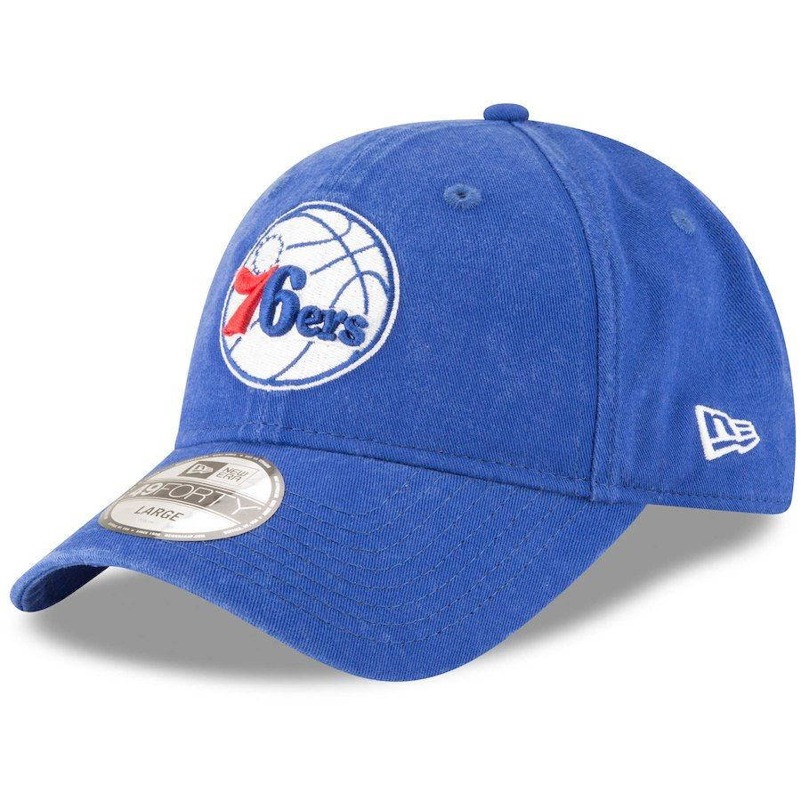 460733a93 Men s Philadelphia 76ers New Era Royal Core Fit 49FORTY Fitted Hat ...