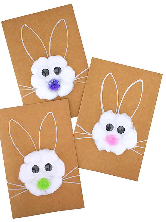 Cotton Ball Easter Bunny Card Easter Bunny Ears Template Easter Bunny Template Easter Bunny Crafts
