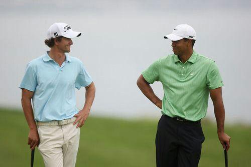 Adam Scott and Tiger Woods