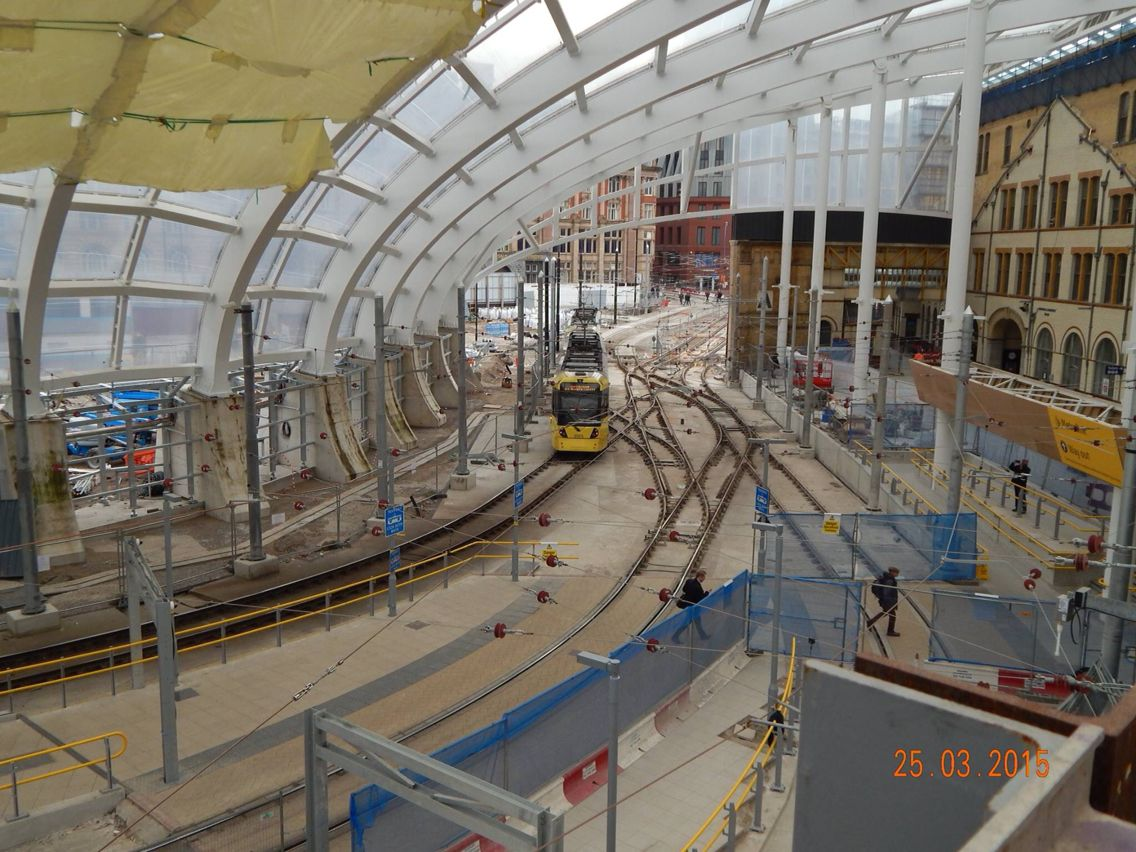 Victoria Station during renovation