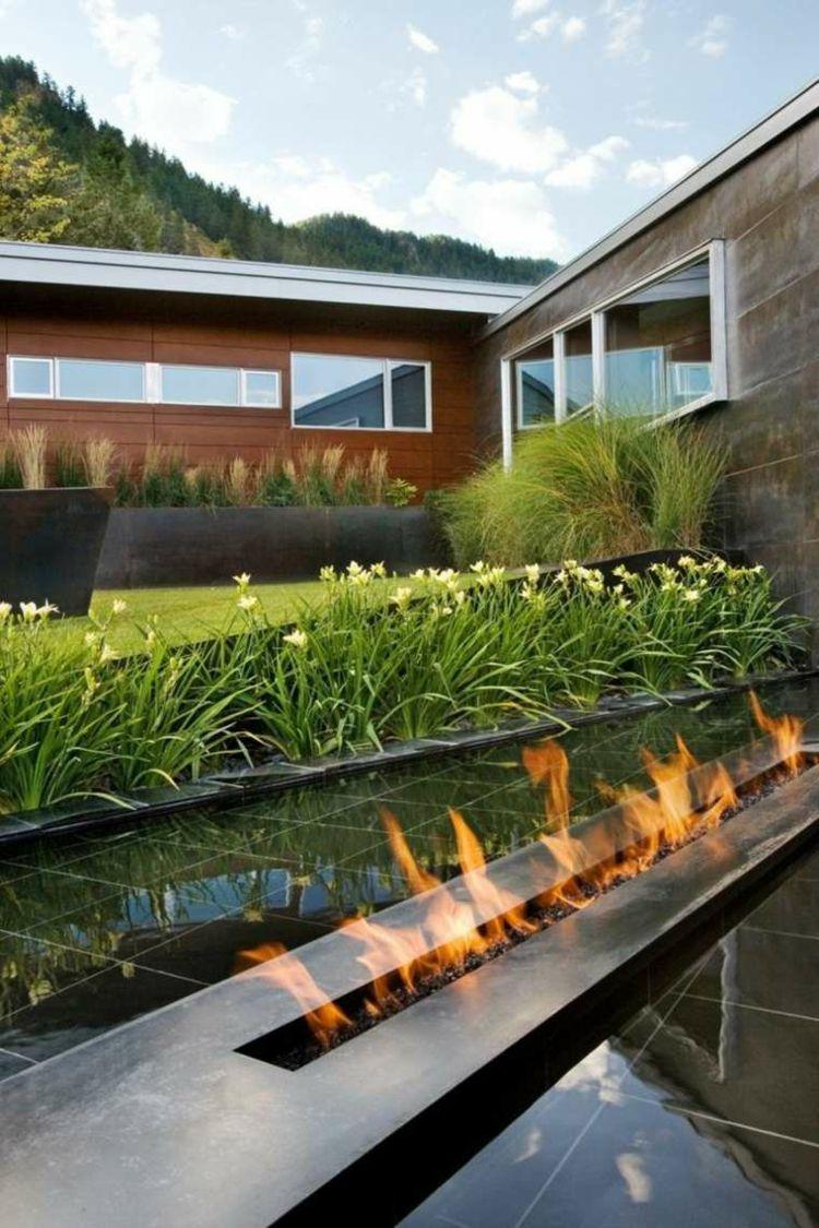 jardines minimalistas diseo modernos Jardn Pinterest Yards