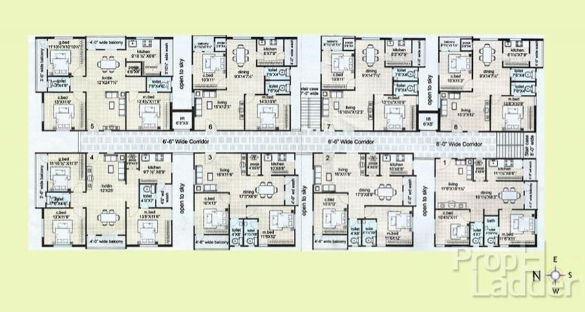 8 unit apartment floor plans